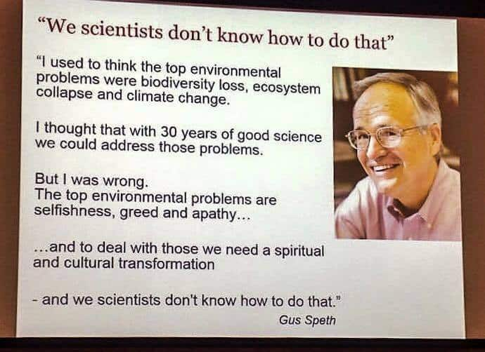 prof. gus speth us climate advisor